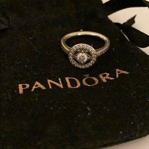 Vintage Circle Pandora Ring